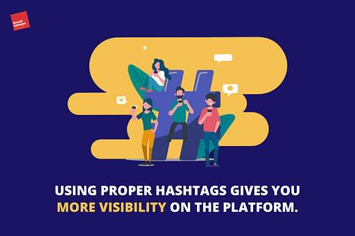 Proper hashtags leads to more views on LinkedIn posts